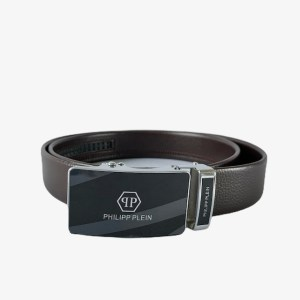 "PP ""Silver AGB"" dark brown belt - dot made"