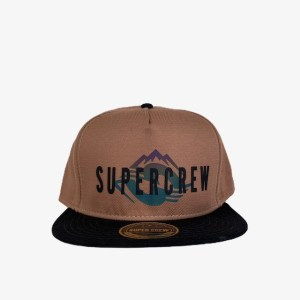 "Supercrew ""Mountains"" brown cap – dot made"
