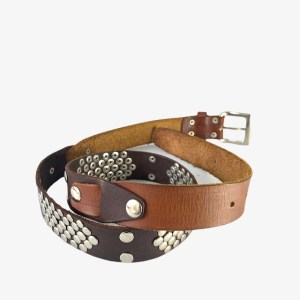 OB One brown leather belt – dot made