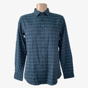 "Angelo Galasso ""moonstone"" blue shirt - dot made"