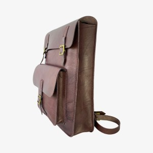 "OB ""Dark maroon"" leather backpack – dot made"