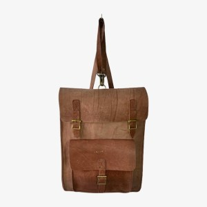 "OB ""Chestnut brown"" leather backpack - dot made"