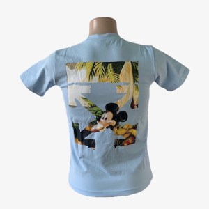 """Off-White """"Mickey Mouse"""" sky blue t-shirt – dot made"""
