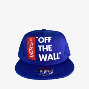 "VANS ""Off the wall"" blue snapback cap – dot made"