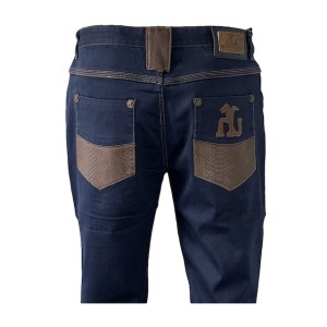 "Angelo Galasso ""Reptile"" blue denim jeans – dot made"
