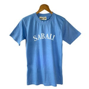 SABALI logo baby blue t-shirt - dot made
