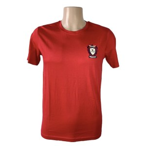 Angelo Galasso zipper red t-shirt