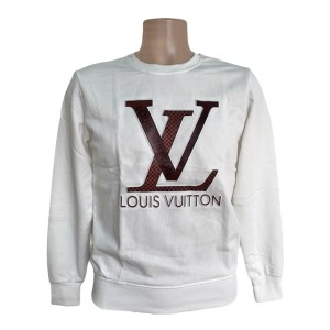 LV 38 Crewneck white sweater