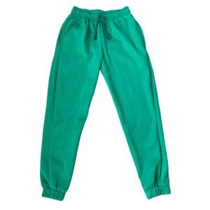 Minimalist Unisex green jogger sweatpants