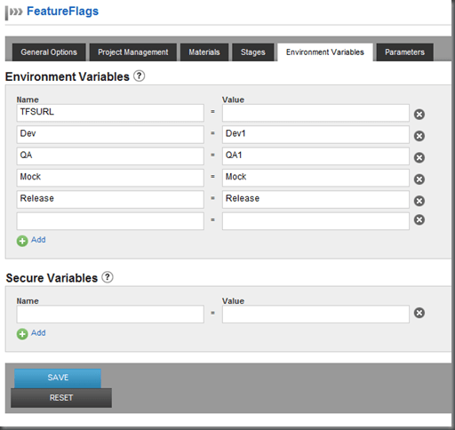 Showing sample environments from our pipeline template