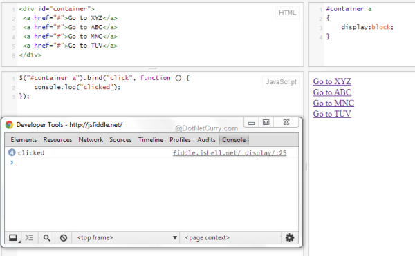jQuery Event Handling Basics - Difference between Bind ...