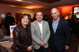 Juani Delgado, gerente de ventas Aerolineas Argentinas; Alexis Barriga, jefe de ventas servicios terrestres Travel Security, y Rolando Uauy.