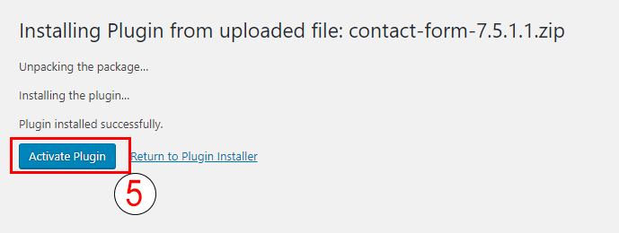 Install Uploaded zip plugin on wordpress