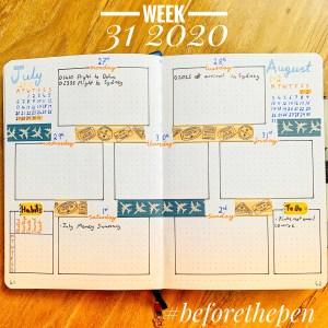 Week Spread 31 2020