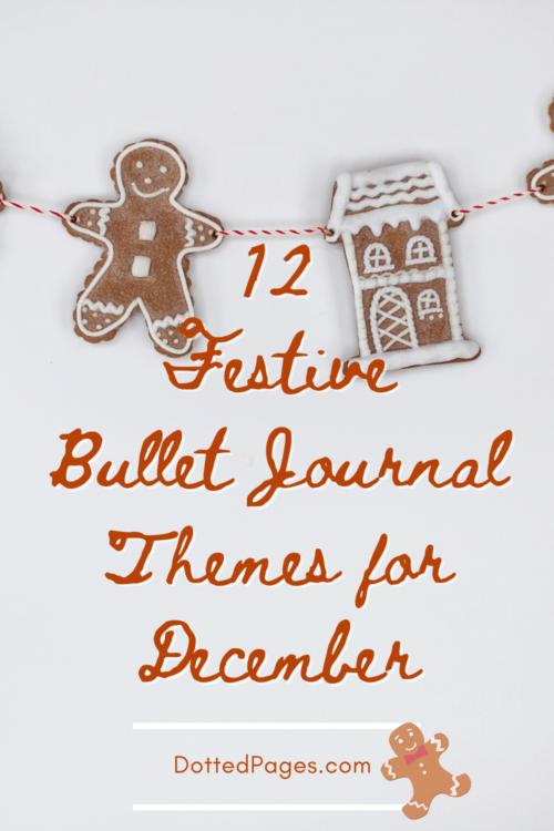December Bullet Journal Theme Ideas Pin