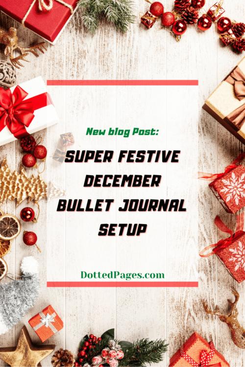Festive December Bullet Journal