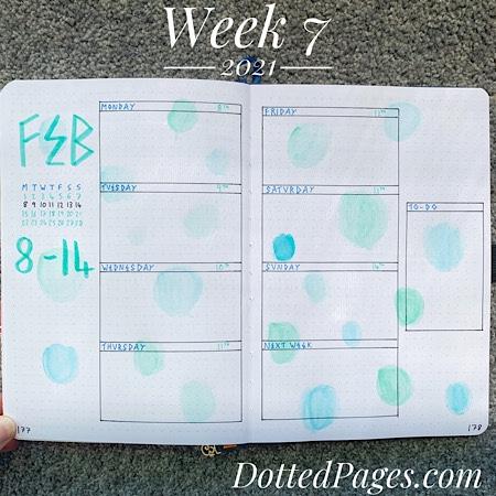 Week 7 2021 Bullet Journal Setup