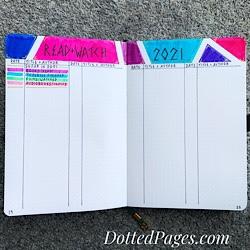 Bullet Journal Vol.4 Read & Watch Tracker