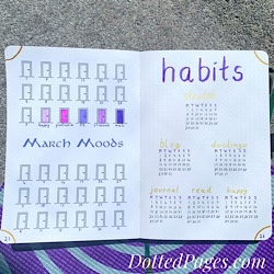 March 2021 Mood & Habit Trackers
