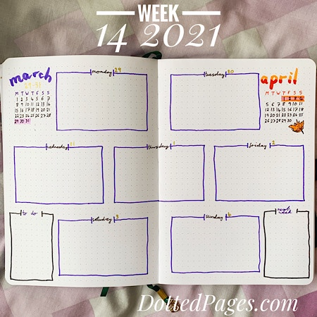 Week 14 2021 Bullet Journal Setup