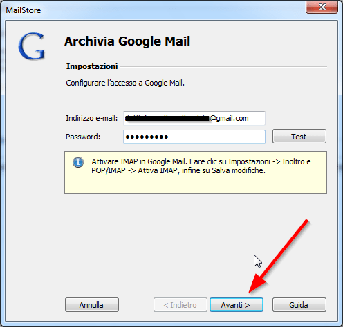 Come fare il backup della mail