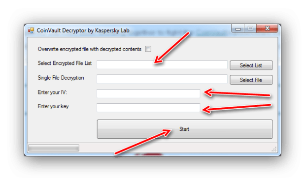 CoinVault: come rimuoverlo e recuperare i file criptati