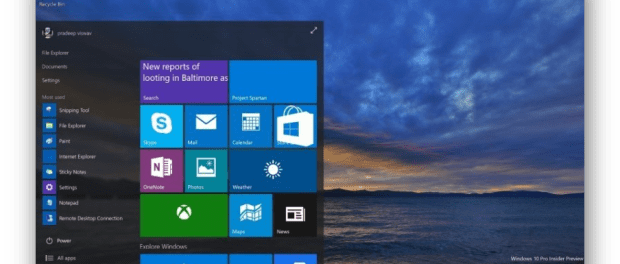 Windows 10 Insider Preview: download e nuove funzionalità