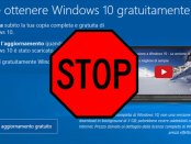 impedire l'aggiornamento automatico da Windows 7 a Windows 10