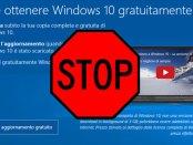 impedire l'aggiornamento automatico da Windows 7 a Windows 10