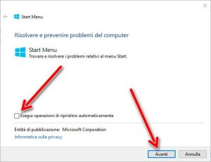 start-menu-troubleshooter-ripristino-automatico