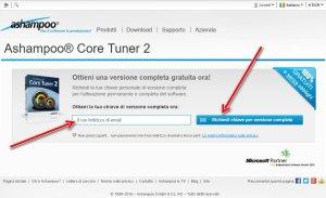 Ashampoo core tuner 2 richiedi chiave versione completa