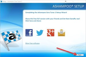 Ashampoo core tuner 2 setup finish