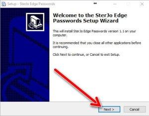 SterJo Edge password setup 1