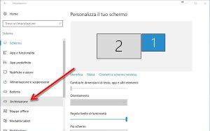 Archiviazione Windows 10