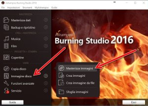 Ashampoo Burning Studio 2016 masterizza immagini