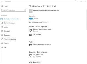 Bluetooth e altri dispositivi
