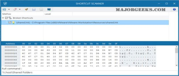 shortcut scanner