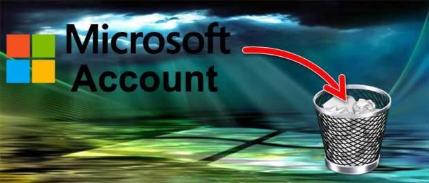 Eliminare un account Microsoft
