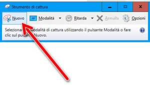 Catturare uno screenshot