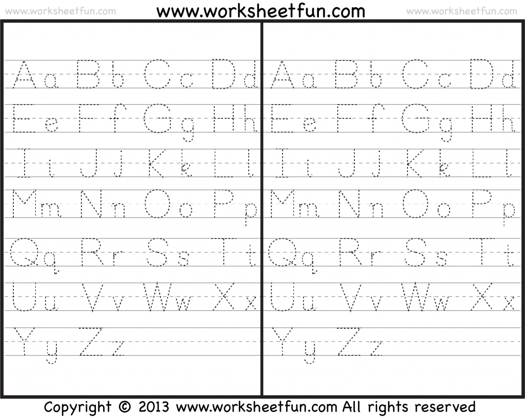 Capital And Small Letter Tracing Worksheet In Spanish