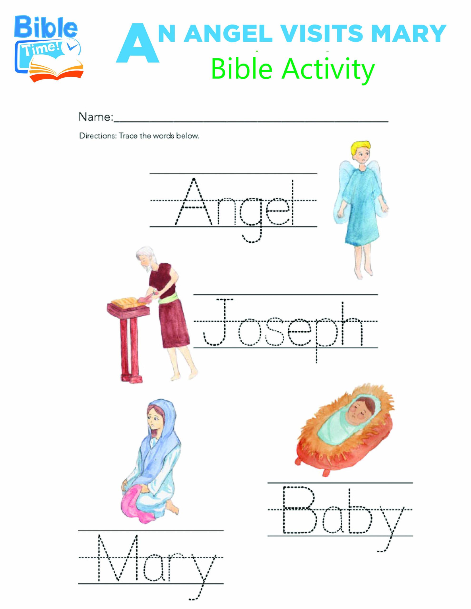 Free Preschool Bible Activities
