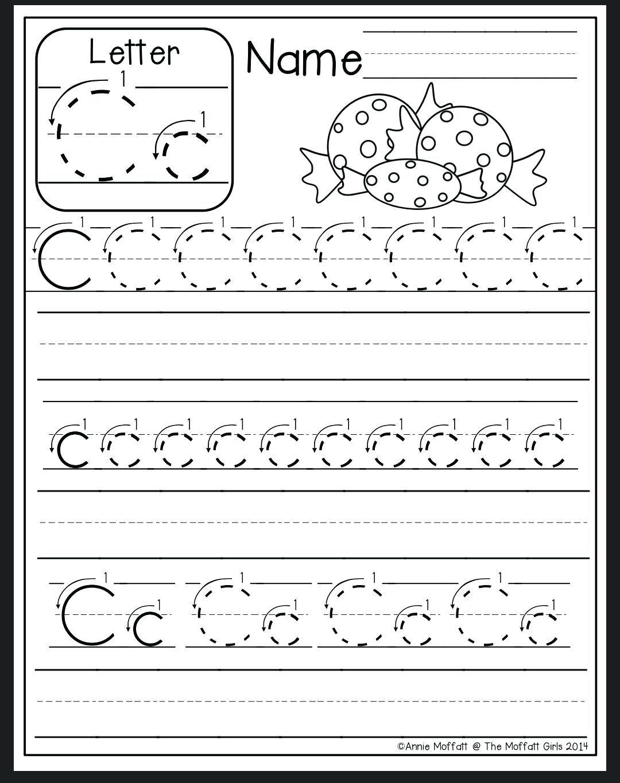 Letter C Tracing Sheet Letter C Worksheet Preschool Letter