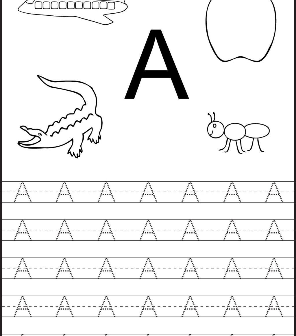Free Letter Tracing Preschool Worksheet