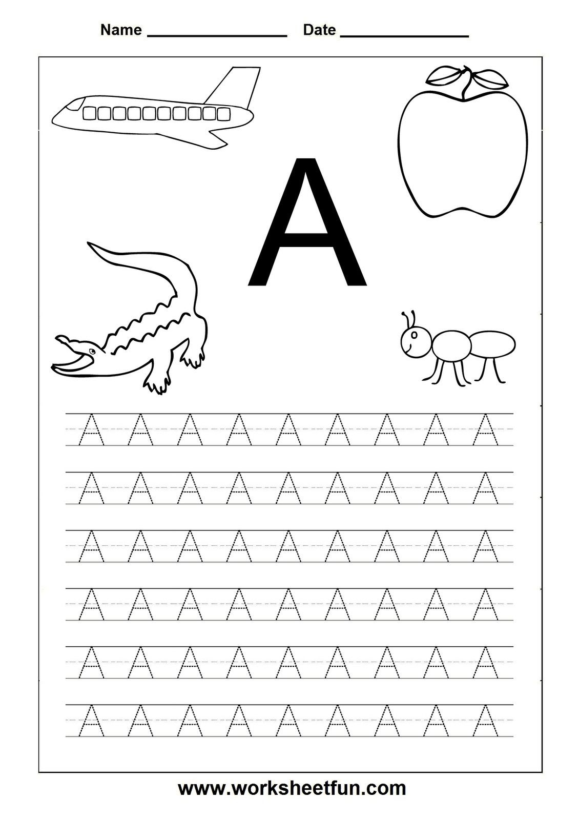 Free Print Preschool Worksheets Tracing Letters J