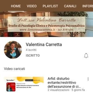 You Tube canale Dott.ssa Carretta Psicologa Cernusco Psicostrumenti