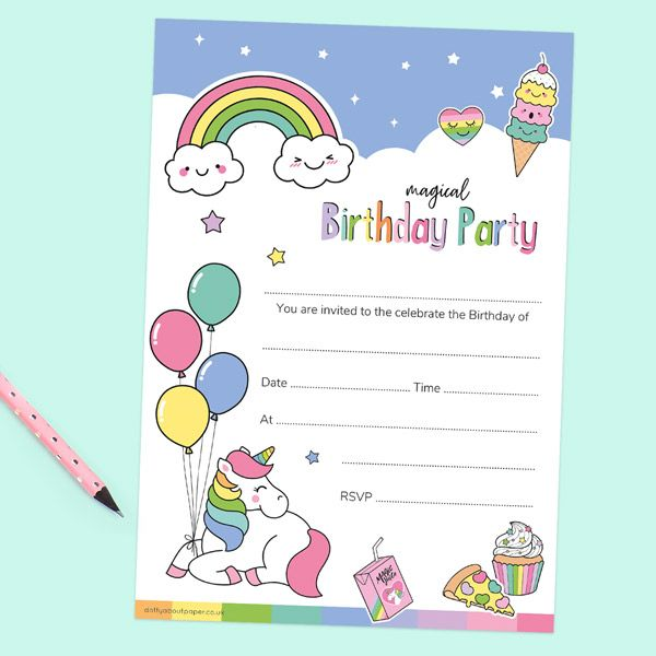 a birthday invitation rsvp