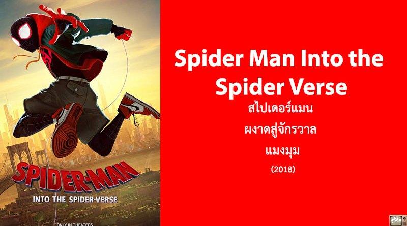 รีวิว Spider Man Into the Spider Verse สไปเดอร์แมน ผงาดสู่จักรวาล แมงมุม (2018)