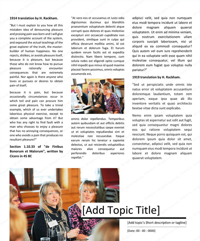 Magazine Article Template Free: Magazine Template For Microsoft® Word