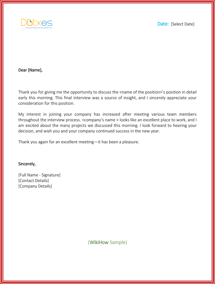 thank you letters to business