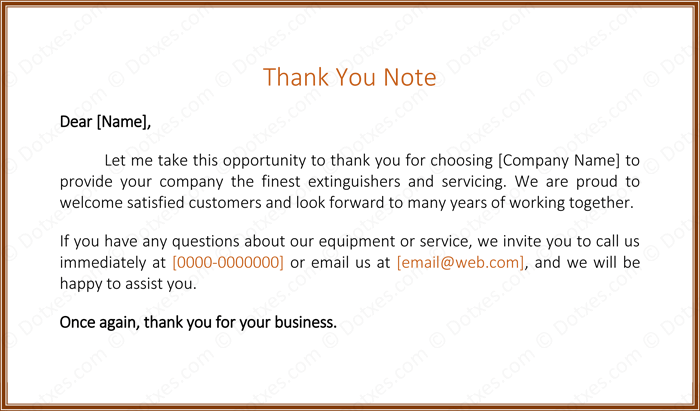 Business Letter Thank You For Choosing Our Services